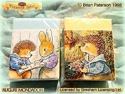 🐰 Rare Original VINTAGE FOXWOOD TALES Gomme Gommine Gommes Eraser Italy 1998 💐