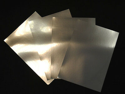 Silver Metallic Glossy Inkjet Printable Adhesive Film 5 A4 Sheets 100 Micron