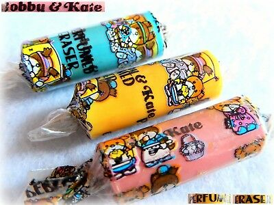 🍬 BOBBY & KATE Ribbon VINTAGE 1980 JAPAN Gommine collezione CANDY ERASER 🍬