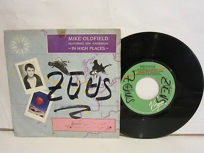 Mike Oldfield Featuring Jon Anderson - In High Places - 1987 Single Spain - VG/G
