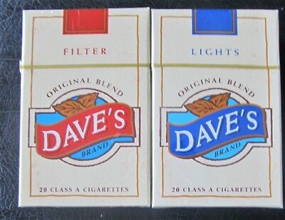 UNOPENED VINTAGE Collectible Cigarettes DAVE'S FILTER BOX AND DAVE'S LIGHT BOX