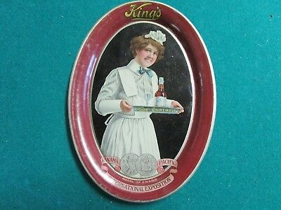 Antique Early 1900 S Advertising Tip Tray Kings Pure Malt Panama Pacific Expo