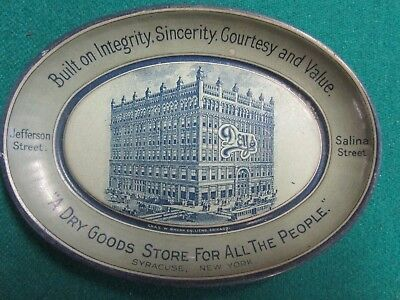 Antique Advertising Tip Tray Early 1900. Deys Dry Goods Store Syracuse Ny