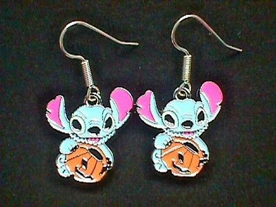 Disney Halloween Stitch Hypoalergenic Silver Plated Earrings buy more & save