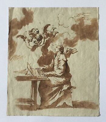 MERVEILLEUX DESSIN ANCIEN 17-18eme SIECLE, OLD MASTER DRAWING, MUSEUM QUALITY