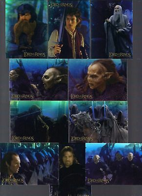 All 3 Lord Of The Rings  Topps 10 Holofoil Chase Card Sets #1-10 Fotr Ttt Rok