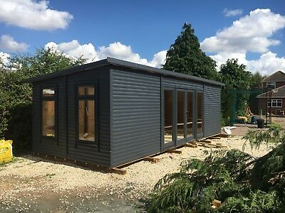 20ft X 9ft Garden Room Home Office Annex Summer House Double Glazed