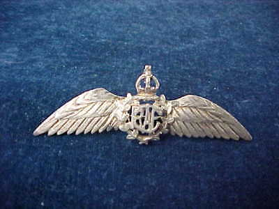 "Orig WW2 RCAF Sweetheart Pilots Wing Sterling Silver ""Maker In A Circle"""