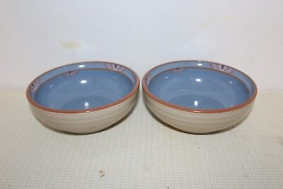 Noritake STONEWARE, Blue Adobe Coupe Cereal Bowl(s) Set of 2 FREE SHIPPING!