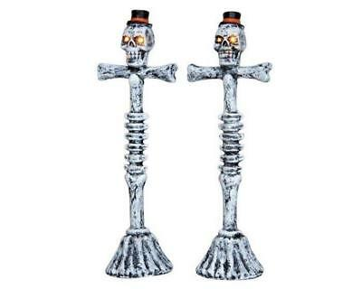 Lemax Spooky Town SCARY LAMP POST #44745 NRFP Lighted Halloween Village *