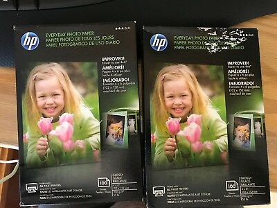 Hp glossy photo paper x 100 box new 4x6 Everyday Photo paper