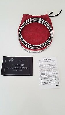 """Vintage Chinese linking rings 10"""" Stainless"""