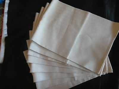Vintage United Airlines 1st First Class Cloth Napkins Set of 8 Unused