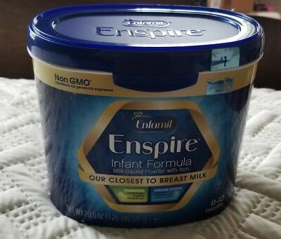Enfamil Enspire Infant Formula 20.5oz Tub. Exp:April/2019 external seal broken