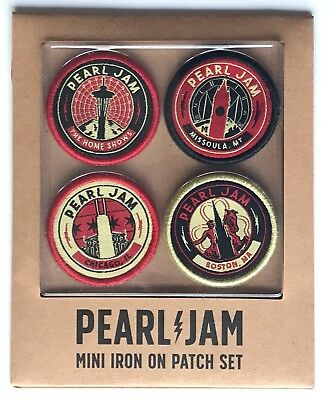 Pearl Jam patch set 2018 tour chicago boston seattle mt pj new the home shows