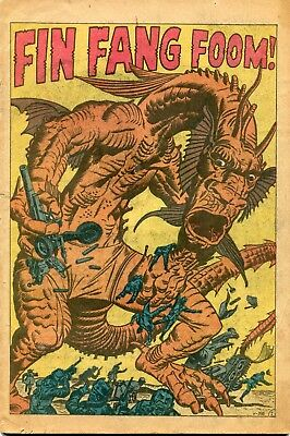 Strange Tales #89 PR 1961 Marvel Comic Book First Fin Fang Foom