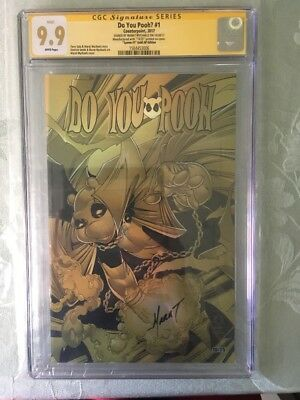 Do You Pooh Spawn #1 GOLD CHROME Variant CGC SS 9.9 #10/25