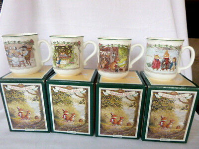 Villeroy & Boch Foxwood Tales Spring Summer Autumn Winter Mugs with Boxes