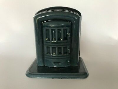 Vintage Cast Iron Porcelain Coin Bank Ciney