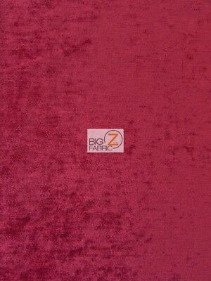 490 GRAMS WOVEN DRAPERY UPHOLSTERY CHENILLE FABRIC - Red - BY YARD CLOSEOUT!!