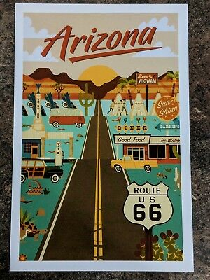Arizona Route 66 Lantern Press postcard