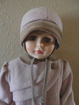 Childs Rothschild Wool Coat And Hat 35 Inch Doll