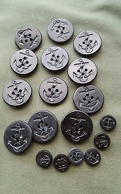 WWII US Navy Peacoat Uniform Button Lot