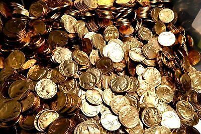 Pure 24K GOLD Plated Vintage Buffalo Nickel RARE ESTATE COIN LOT FIND carat gold