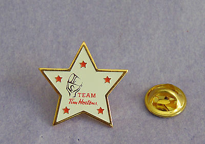 Team Tim Horton All Star 5 Star Pin Lapel Canada