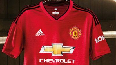 Mens Adidas Manchester United Replica Home T-Shirt Kit 18/19 Red Personalised