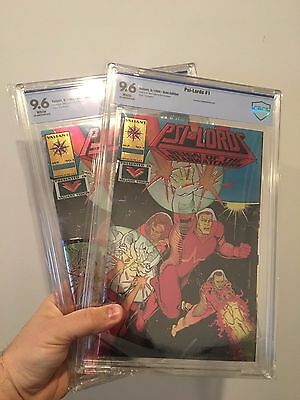 x2 TWO COPIES! NEW CBCS CASE Psi-Lords #1  (Gold Edition)  9.6 like CGC Valiant
