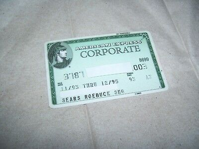Vintage American Express Corporate Credit Card Expired 1993-1995