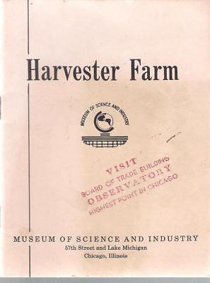 Vintage International Harvester Farm Museum Of Science And Industry Booklet