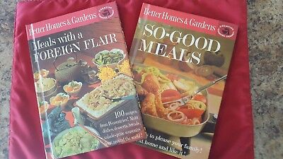 Better  Homes & Garden Set Of 2 Vintage Hardcover Cookooks
