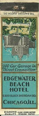 Diamond Quality Matchcover: Edgewater Beach Hotel, Chicago, Ill.