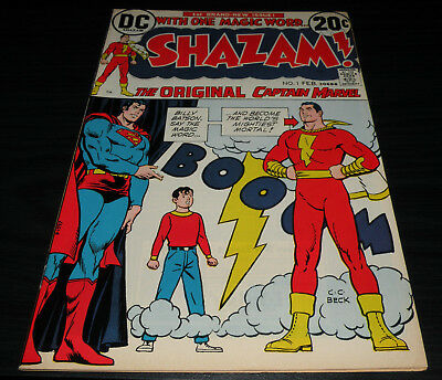 SHAZAM # 1 1973 DC Origin+ Return Captain Marvel VF/NM 9.0 HIGH Grade Movie 2019