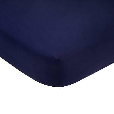 Carter's 100% Cotton Satin Baby  Fitted Crib Sheet Navy Blue