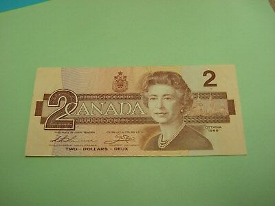 1986 - Canada $2 bill - Canadian two dollar note - BRU6825338