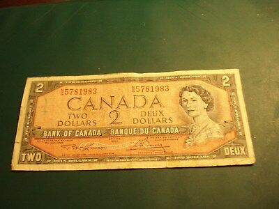 Birth Year 1983  - 1954 - Canada $2 bill - Canadian two dollar note - NG5781983