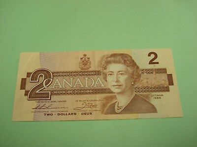 1986 - Canada $2 bill - Canadian two dollar note - BUC9289260