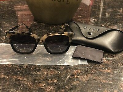 Brand New Diff EYE WEAR Bella grey fade + smoke gradient polarized Sunglasses