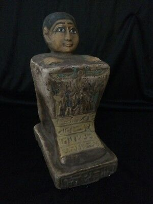Rare ANCIENT EGYPTIAN ANTIQUE EGYPT God Amun Block STATUE stone 1378–1353 BC