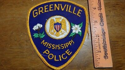 Greenville Mississippi Police Department Obsolete Patch Bx 2 #8