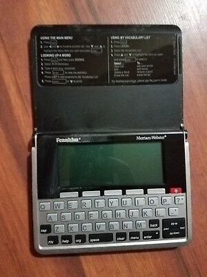 Franklin MWD-1490 Merriam-Webster Pocket Electronic Thesaurus Dictionary USED