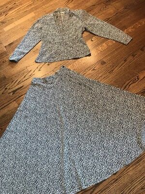 Vintage Sonya Ratay for San Andre Two Piece Skirt Set Size 6