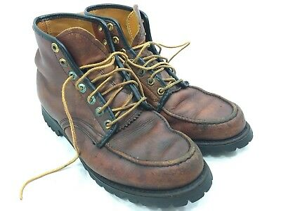 VTG Herman Shoes & Boots Upland Leather Brown Mens 10.5 E Moc Toe USA