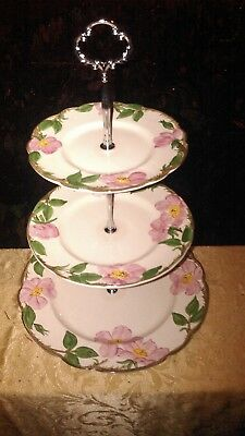 REDUCED! FRANCISCAN! DESERT ROSE! Beautiful 3 Tier Tray!