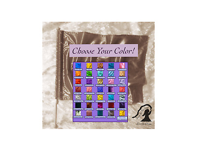 WEE Worship ~ X-SMALL CHILD Lamé Rectangle Single Flag ~ Choose Your Own Color!
