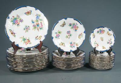 Group of Herend china with butterfly and multi color floral decoration... Lot 77