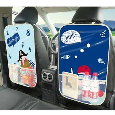 2pcs Car Auto Seat Back Cover Protectors Children Mats Storage Organizers Bag